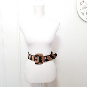 Zara size S cow hair tiger print belt
